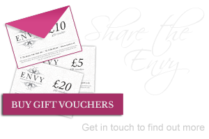 Share the Envy. Guy gift vouchers - get in touch to find out more.